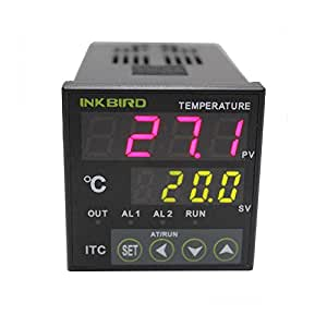 inkbird dual digitale temperaturregler heizen k hlen thermostat thermoelement pid temperature. Black Bedroom Furniture Sets. Home Design Ideas