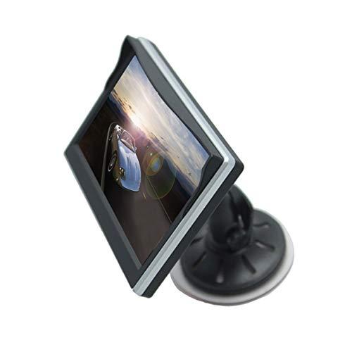 Tree-on-Life TFT LCD 5 Zoll Auto Monitor Auto Parken Backup Reverse 2-Kanal-AV-Eingang Breitspannungsmonitor mit Saugnapf Halterung