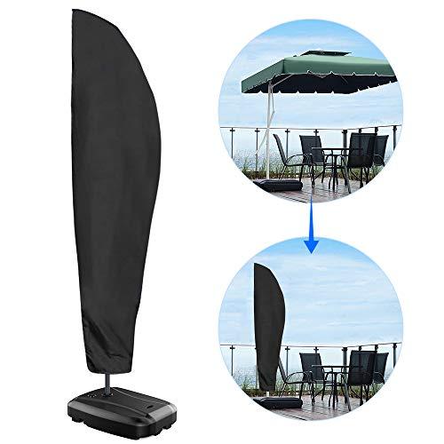 Nasharia Schutzhülle für Ampelschirm, Ampelschirm Oxford-Gewebe Schutzhülle 2 bis 4 M Große Sonnenschirm Abdeckung Wetterfeste, UV-Anti, Winddicht und Schneesicher für Outdoor (280x30/81/46cm) -