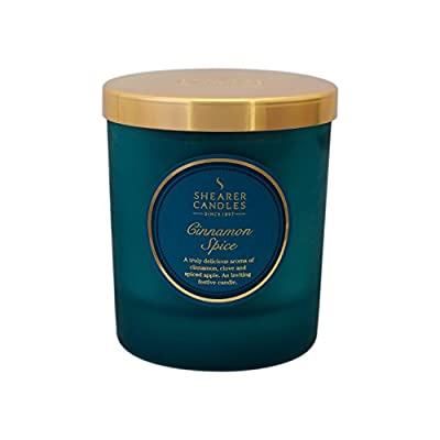 "Shearer Candles ""Cinnamon Spice"" Scented Jar Candle with Lid, Teal by Shearer Candles"