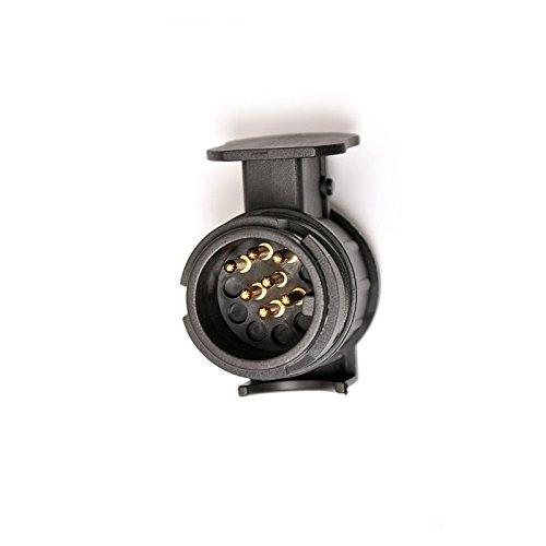 Preisvergleich Produktbild LanLan Wasserdichte Anhängerkupplung Schleppsockel 13 bis 7 Pin Trailer Truck Elektroadapter Stecker