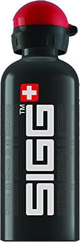 Sigg Uni Signature Trinkflasche, Schwarz/Weiß/Rot, 0.6 L