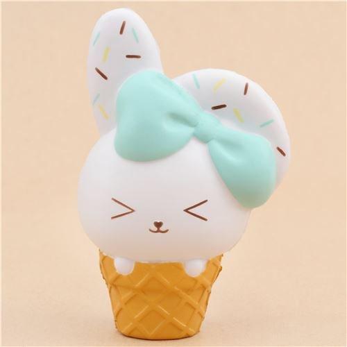 Jumbo-Squishy Häschen-Eistüte mit Aroma von Bunnys Cafe