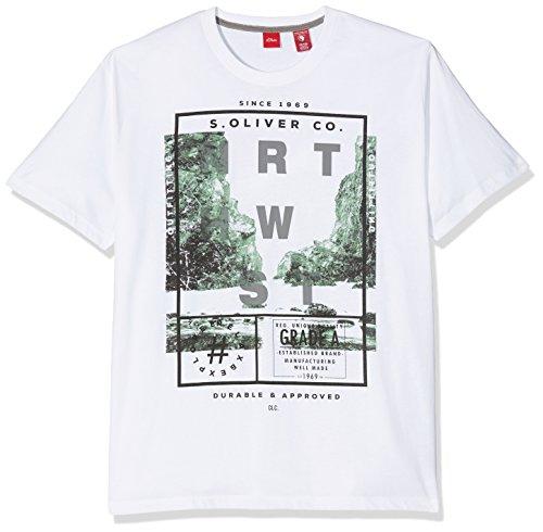 s.Oliver Big Size Herren T-Shirt Schwarz (White 0100)