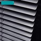 Plissee jalousien Schatten,Bambus horizontale fensterfarbton Vinyl horizontale jalousien Schlafzimmer Fenster-vorhänge-schwarz 60x162cm(24x64inch)