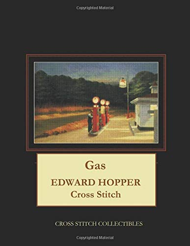 Gas: Edward Hopper Cross Stitch Pattern por Cross Stitch Collectibles