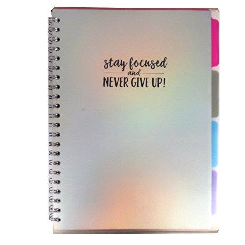 Metallic Dreams, A4+ Projekt Notebook 200Seiten, inspirierende, graph, Dotted, liniert und blanko Seiten, 4interne Trennwände