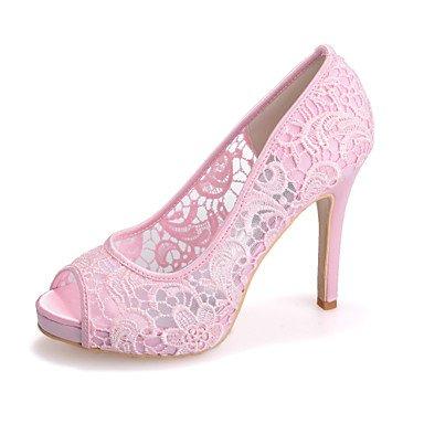 RTRY Donna Tacco Shoesstiletto Peep Toe Sandali Matrimoni/Parte &Amp; Sera Nero/Rosa/Bianco Avorio US10.5 / EU42 / UK8.5 / CN43