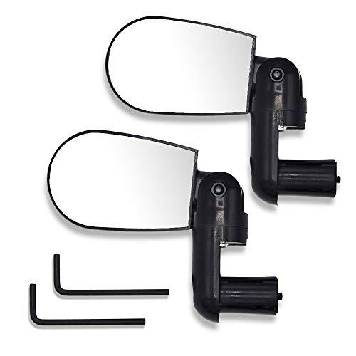 Labewin Fahrrad Spiegel-1 Paar verstellbare Fahrrad Lenker rotierende flexible Rückspiegel Glas (2 Stück)