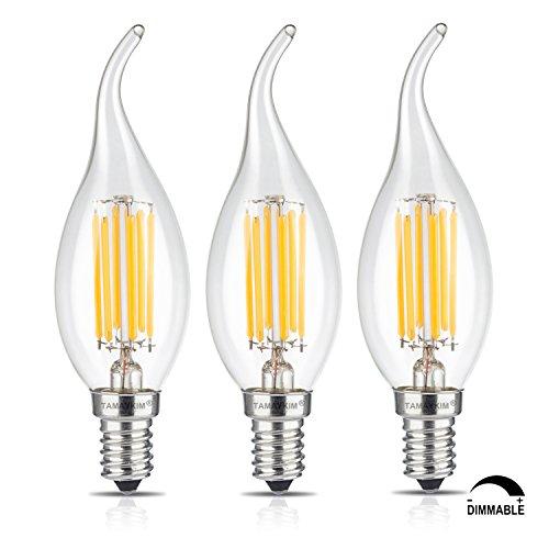 TAMAYKIM C35 6W Dimmerabile Filamento Lampadina LED Candela - 3000K