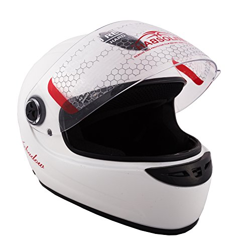Autofy Habsolite Shadow Full Face Helmet (White, M)