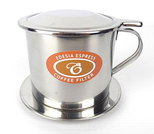 EDESIA ESPRESS - Vietnamesischer Kaffeefilter Ca Phe Phin - Edelstahl - Schraub-Filter - Größe 9