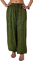 Skirts & Scarves Womens Rayon Casual Harem / Yoga Pant / Pajama (Green)