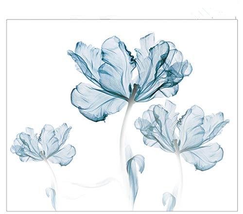 Kaever carta da parati moderno e minimalista tv sfondo muro blu rinfrescante fiore soggiorno camera da letto murales 3d wallpaper-180cm * 110cm