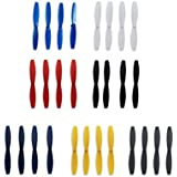 Anbee 7 conjuntos de hélice para la Parrot Minidrones Rolling Spider, Airborne Cargo / Night, Hydrofoil, Mambo, Swing Mini Drone (Color: negro / rojo / blanco / azul / azul marino / amarillo / gris)
