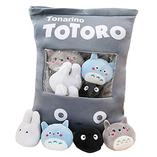 ◆ Estilo A-H. ◆ Una bolsa de juguetes de peluche muy lindos, cada uno de los cuales contiene 8 juguetes de peluche, es muy adecuada para los niños, y también puede sacar las muñecas incorporadas como decoraciones para el hogar. ◆ La almohada está hec...