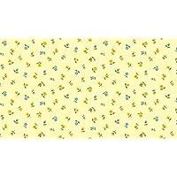 Makower Patchwork Fabric Bloom Floral Scattter Yellow - Sold Per 1/4 Metre (Long Quarter)