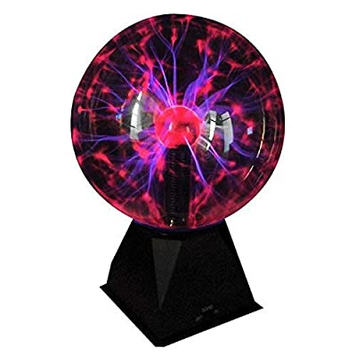 Juguetronica | Boule Plasma XL - Activation avec de la musique ou frapper des mains - Grande taille: 20cm