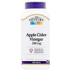 21st Century Apple Cider Vinegar Tablets, 300 mg, 250 count
