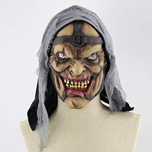Halloween Horror Pimp Monster Maske Weihnachten Latex Geist Kopfbedeckung ()
