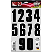 140 Klebezahlen wetterfest 12 cm schwarz Ziffern Zahl 120mm