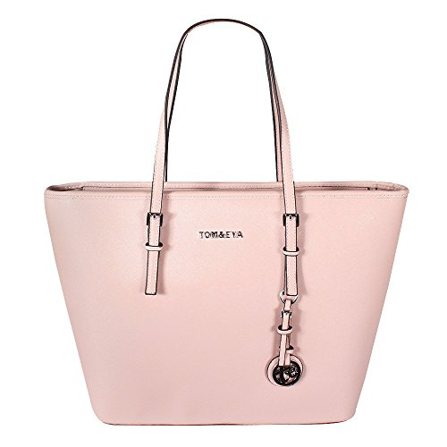 28e02048abe92 Tom   Eva Damen Handtasche 6228F TE-Jet Set Travel Bag Tasche Braun Pink