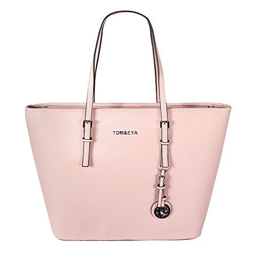 e9be233a4be94 Tom   Eva Damen Handtasche 6228F TE-Jet Set Travel Bag Tasche Braun Pink