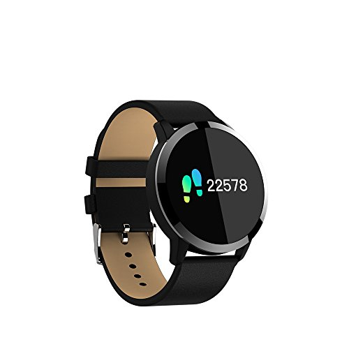 "KuWFi Smart Wristband, 0.95"" OLED IP67 Waterproof Activity Tracker Support Heart Rate Monitor Bluetooth Smart Watch For apple huawei IOS Android phone (Black)"