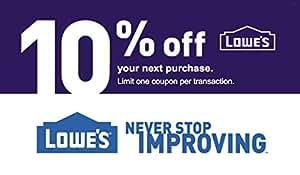 Lowe S 10 Percent Off Promo Code Amazon Co Uk Kitchen Home