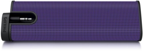 Portable Speaker for Apple iPod iPhone and Most MP3 Players - Purple
