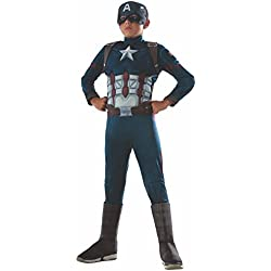 Rubie's Costume Captain America 620591-M: Disfraz Civil War Deluxe Captain America, Medium, (5-7 años)