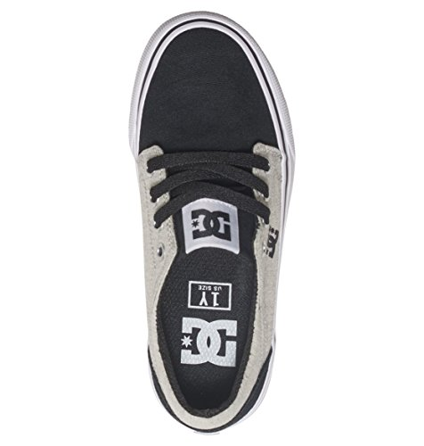 DC Shoes Trase Tx Se, Baskets Basses Garçon Noir - Black/White/Black