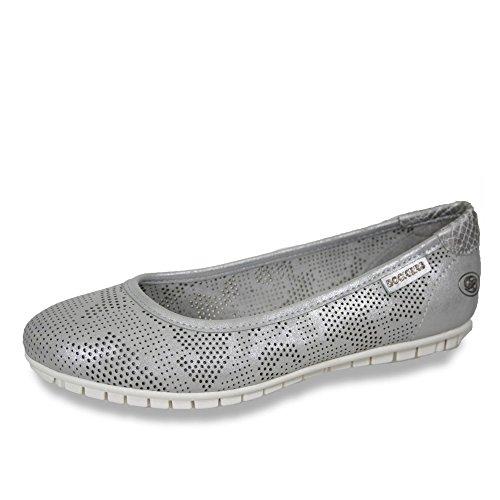 Dockers by Gerli Damen 40dl213-680550 Geschlossene Ballerinas Silber (Silber 550)