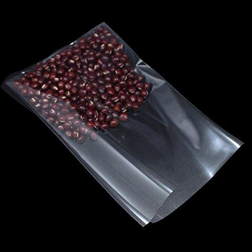 Eben Öffnen Sie Oberseite Plastik Beutel Klar Farbe 10x16cm (3.9