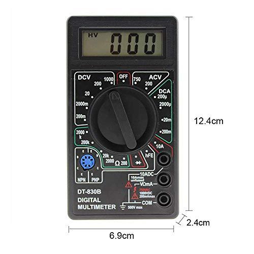 Multimeter DT-830B Handgehalten Volt Tester LCD Mini Praktische Test Kabel Voltmeter Manuell Digital Widerstandsmessgerät Auto Range