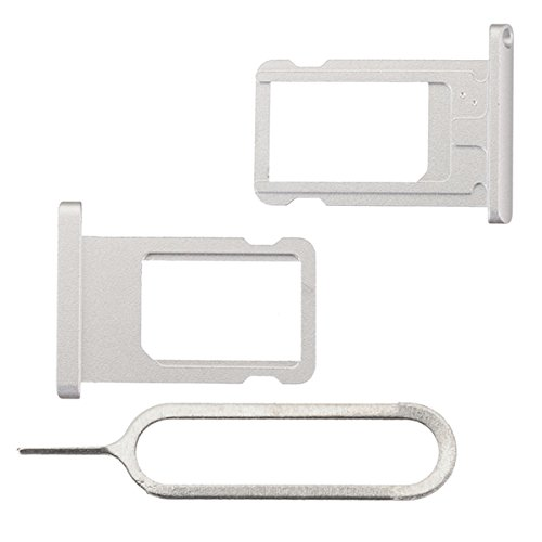 BisLinks®® Für iPad Air 2 Metal SIM Karte Tablett Halter Slot Silber Ejector Pin 6th Gen