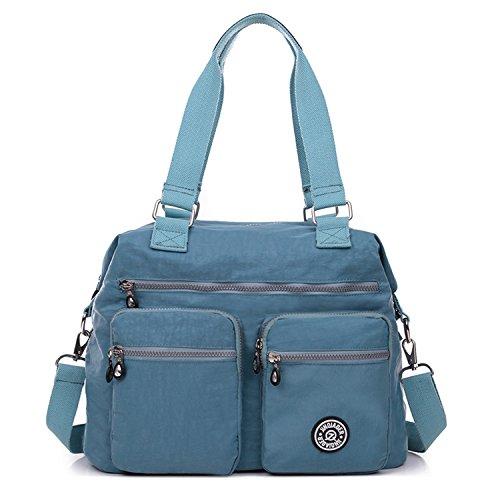 Designer Handtasche Nylon (Outreo Schultertasche Designer Handtasche Damen Messenger Bag Umhängetasche Mädchen Taschen Wasserdichte Kuriertasche Sporttasche Reisetasche für Strandtasche Nylon)