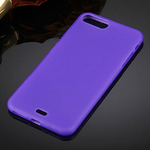 Hülle für iPhone 7 plus , Schutzhülle Für iPhone 7 Plus Solid Color TPU Schutzhülle ,hülle für iPhone 7 plus , case for iphone 7 plus ( Color : Magenta ) Purple
