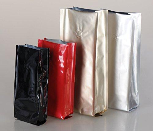 Pack-ste Kaffeetüte/Kaffeebeutel/Kaffeeverpackung mit Aromaschutz Ventil, 250 STK. (rot, für 500g)