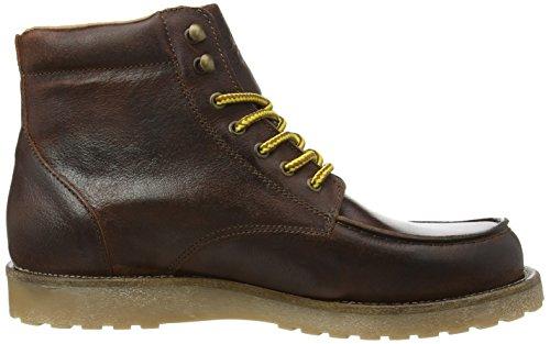 Jack & Jones - Jjgenton Leather Boot 1, Stivaletti Uomo Marrone (Brown (Java))