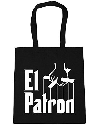 hippowarehouse-el-patron-pablo-escobar-tote-compras-bolsa-de-playa-42-cm-x38-cm-10-litros-negro-negr