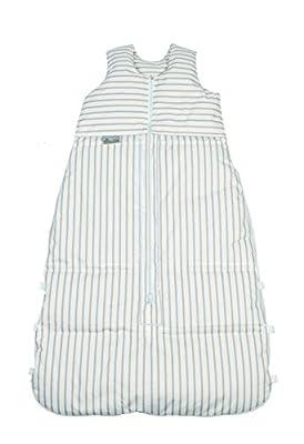 ARO Artländer 87591 - Saco de dormir para bebé (medida de 130 cm se puede reducir a 120 cm y 110 cm), diseño con rayas, color blanco y ocre