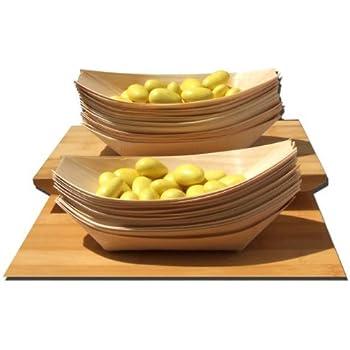 bambus schiffchen mittel f r fingerfood snacks knabbereien 175 x 85 mm 100 st ck amazon. Black Bedroom Furniture Sets. Home Design Ideas