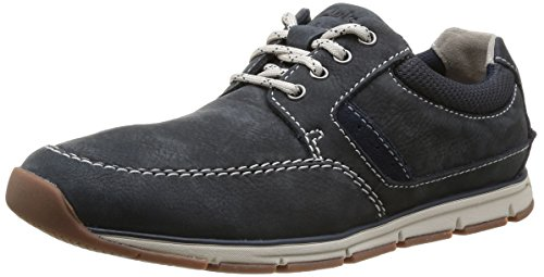 Clarks Beachmont Edge, Derbies à lacets homme Bleu (Navy Nubuck)