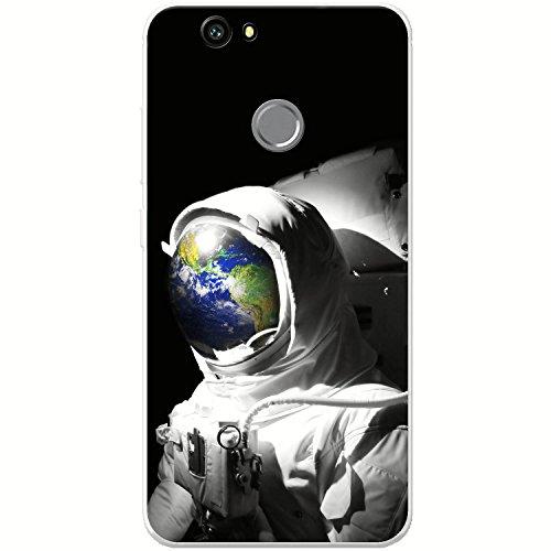 Astronautenanzug & Spiegelbild der Erde Hartschalenhülle Telefonhülle zum Aufstecken für Huawei Nova