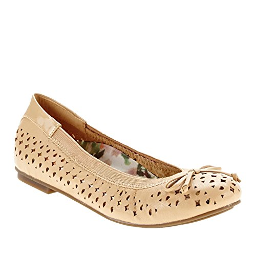 Vionic Womens 359 Spark Surin Leather Shoes Nude