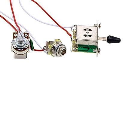 413iTi4s9gL. SS416  - SeaStart- Kit de cableado de guitarra eléctrica (1 volumen, 1 tonelada, 3 interruptor, 500 K, 1 juego de toma de potenciómetro)