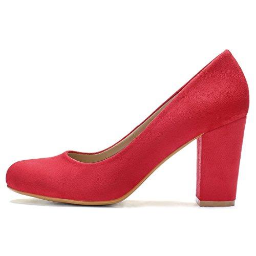 Allegra K Chaussures À Talons Hauts, Femme Classique Rouge