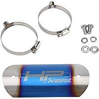 KIMISS Cubierta protectora del tubo del tubo de escape de la motocicleta(Patrón de carbono