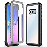 ATOP Samsung Galaxy S10E Case, Full-Body Protection Rugged Clear Armor Case with Built-in Screen Protector, Shock-Absorbing Drop-proof Case for Samsung Galaxy S10E(2019) 5.8 Inch - Black Clear.